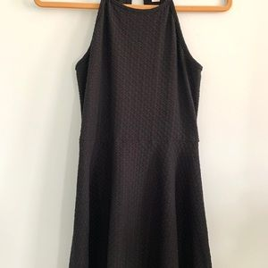 Simple Black Skater Dress Size:small